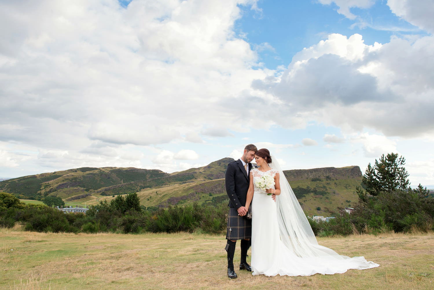 Bride and Groom at Calton_Hill_Elopement_Wedding