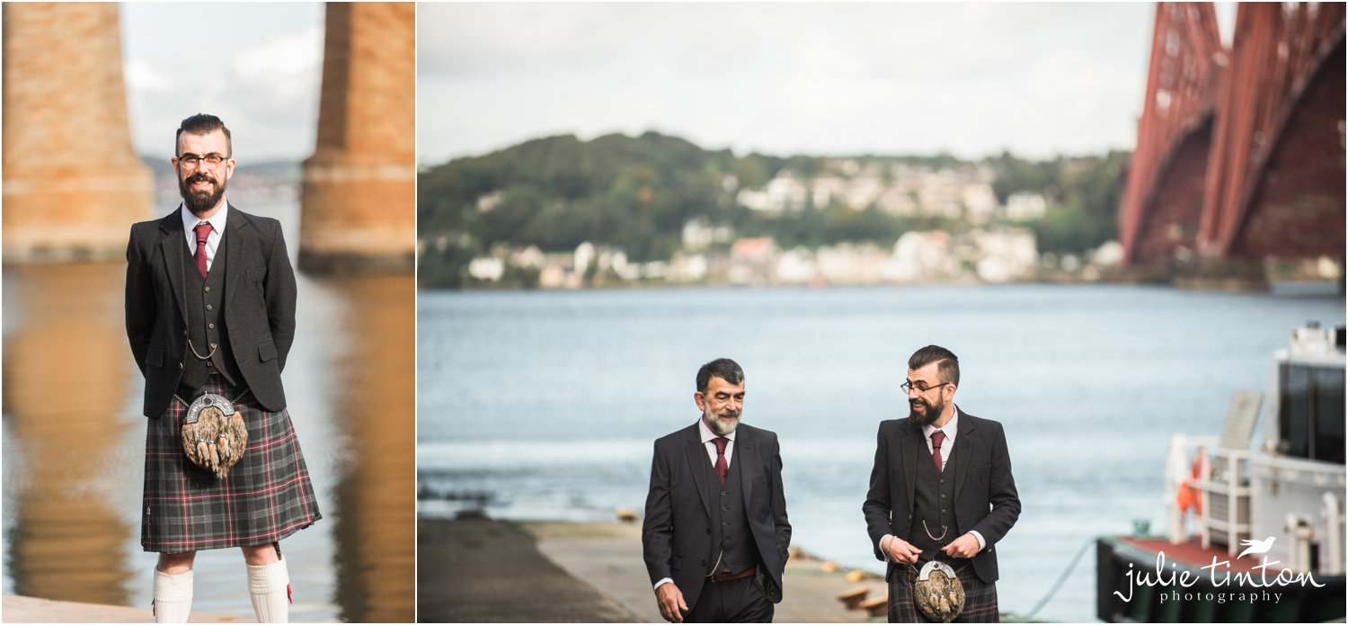 Groom and Best Man at South Queensferry