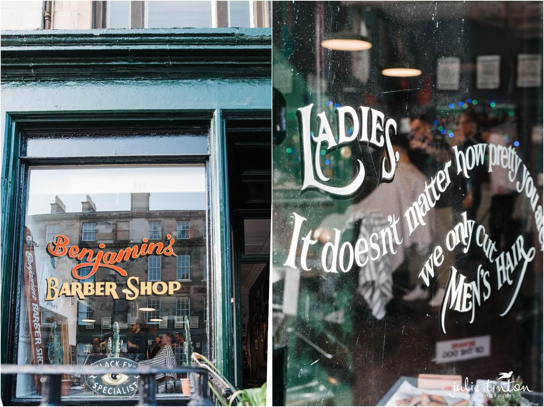 Benjamin Barbers shop front