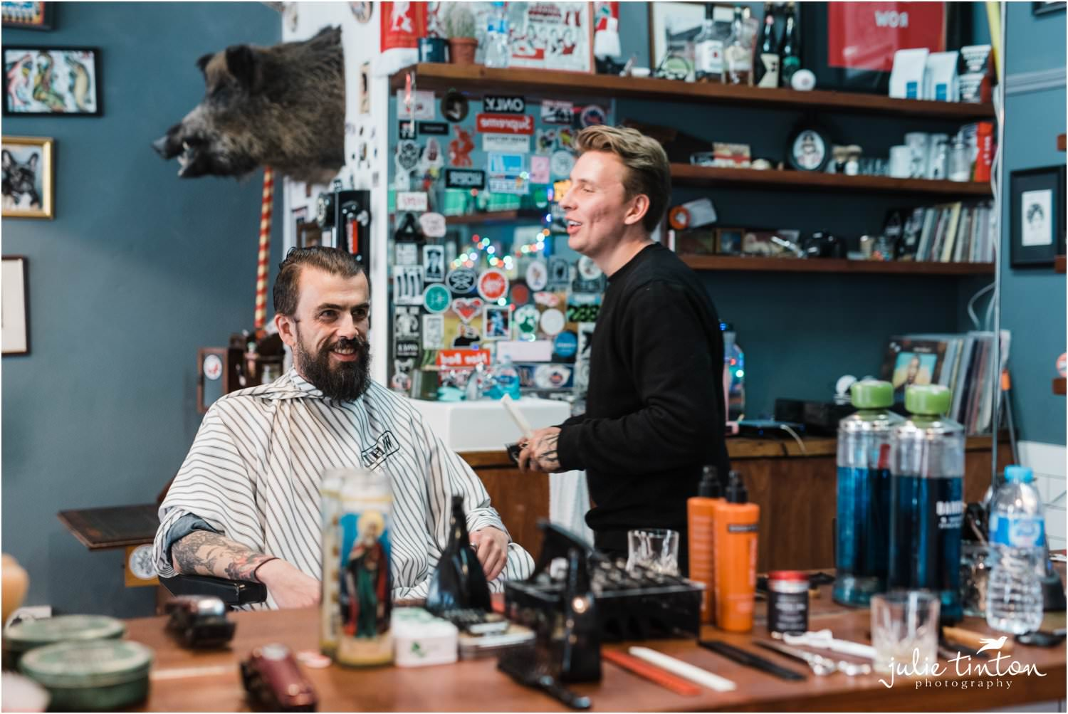 Benjamin Barbers wtih groom in Edinburgh