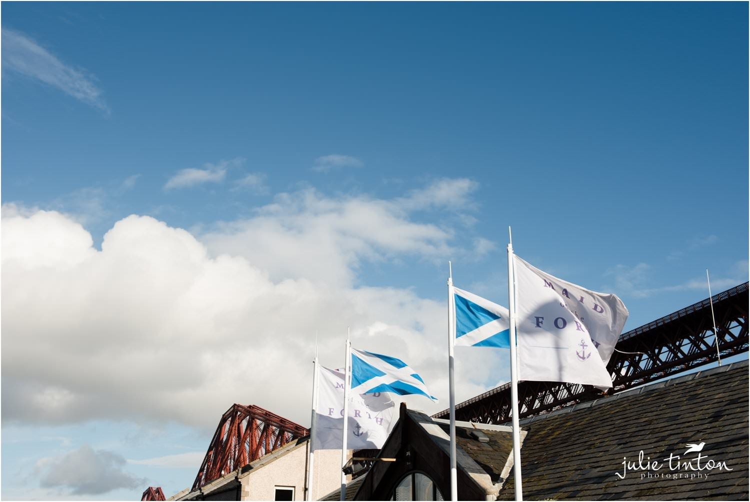 Maid of Forth flags at South Queensferry Scotland
