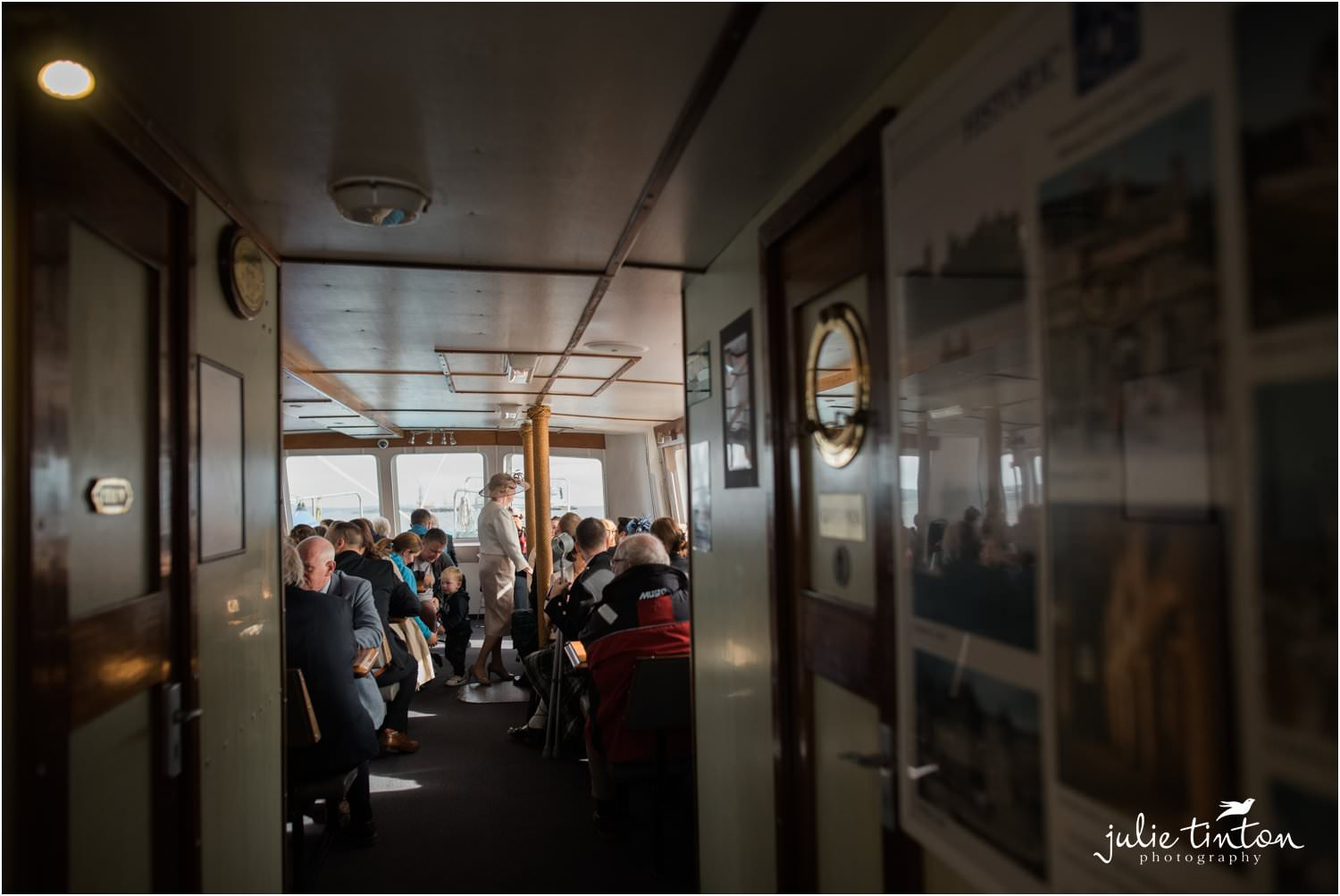 Wedding Guests on Maid of Forth boat travelling to Inchcolm Island