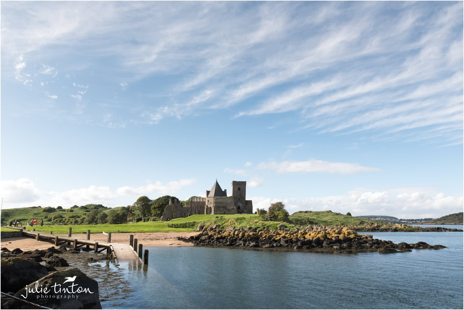 Scenic view of Inchcolm Island for a wedding