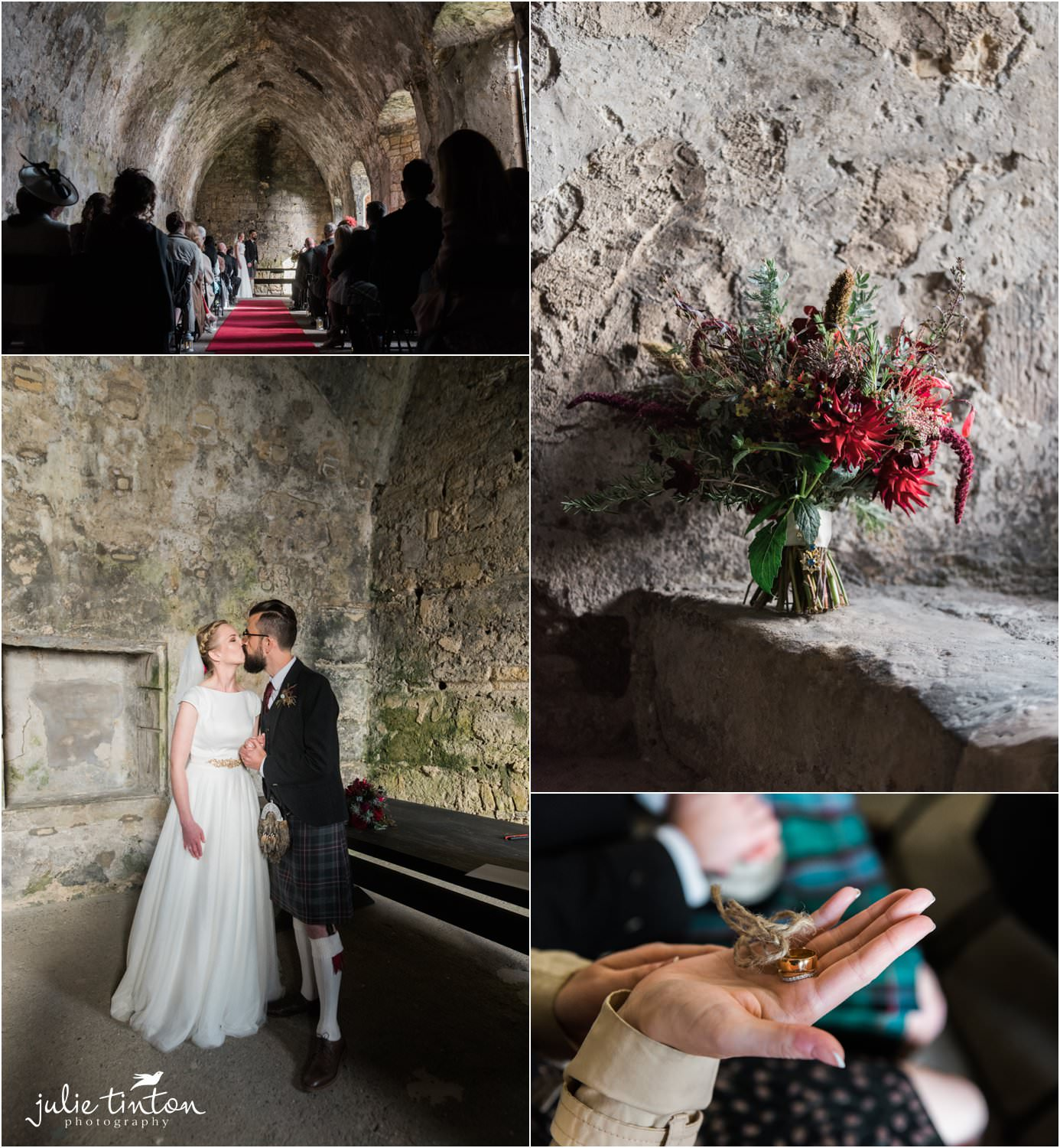 Inchcolm Island wedding ceremony