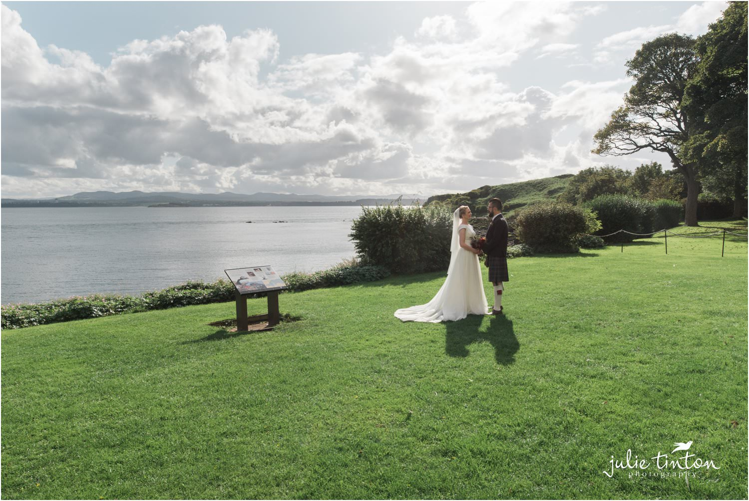 Bride and Groom at Inchcolm Island