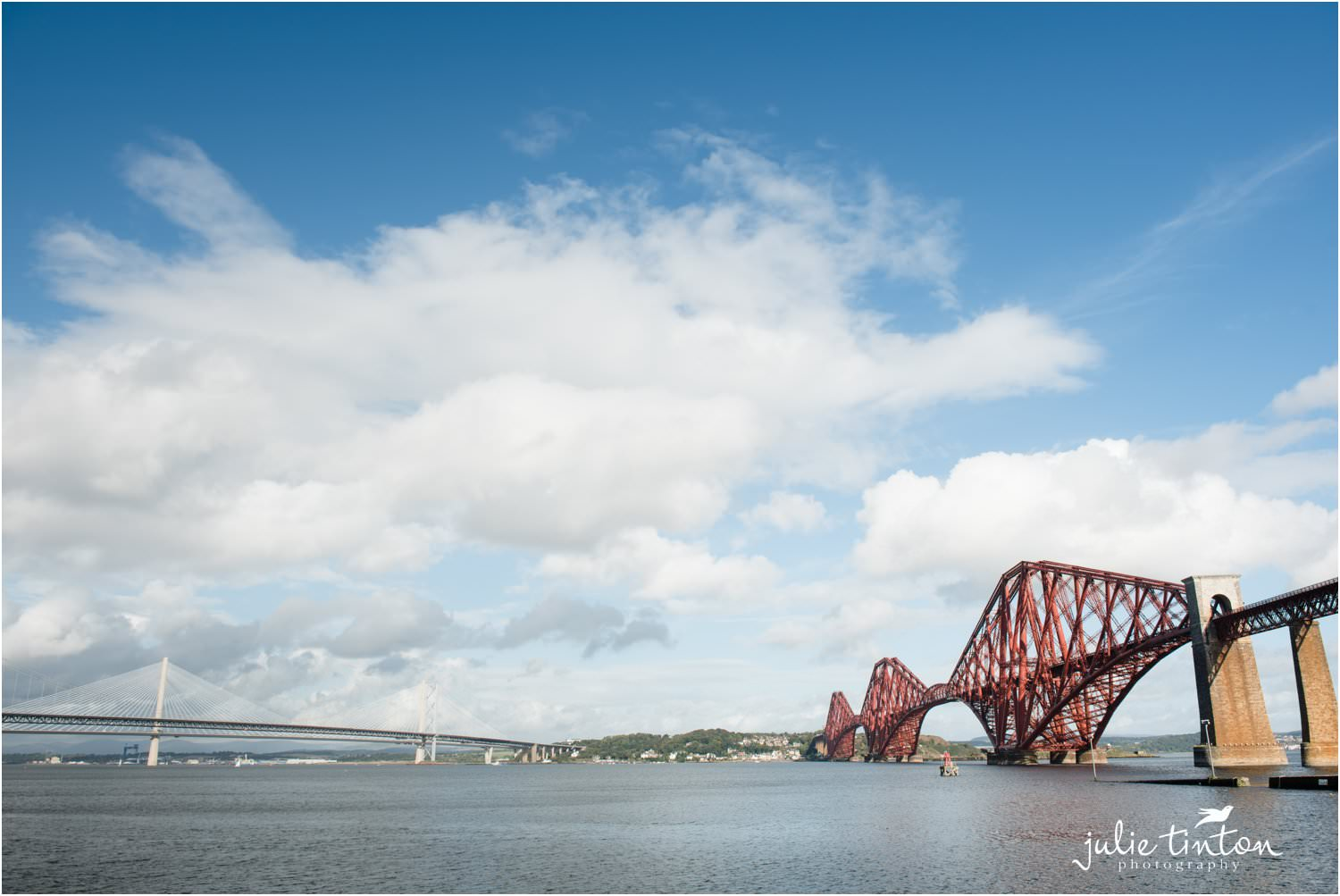 South Queensferry Forth Road Bridge and Queensferry Crossing