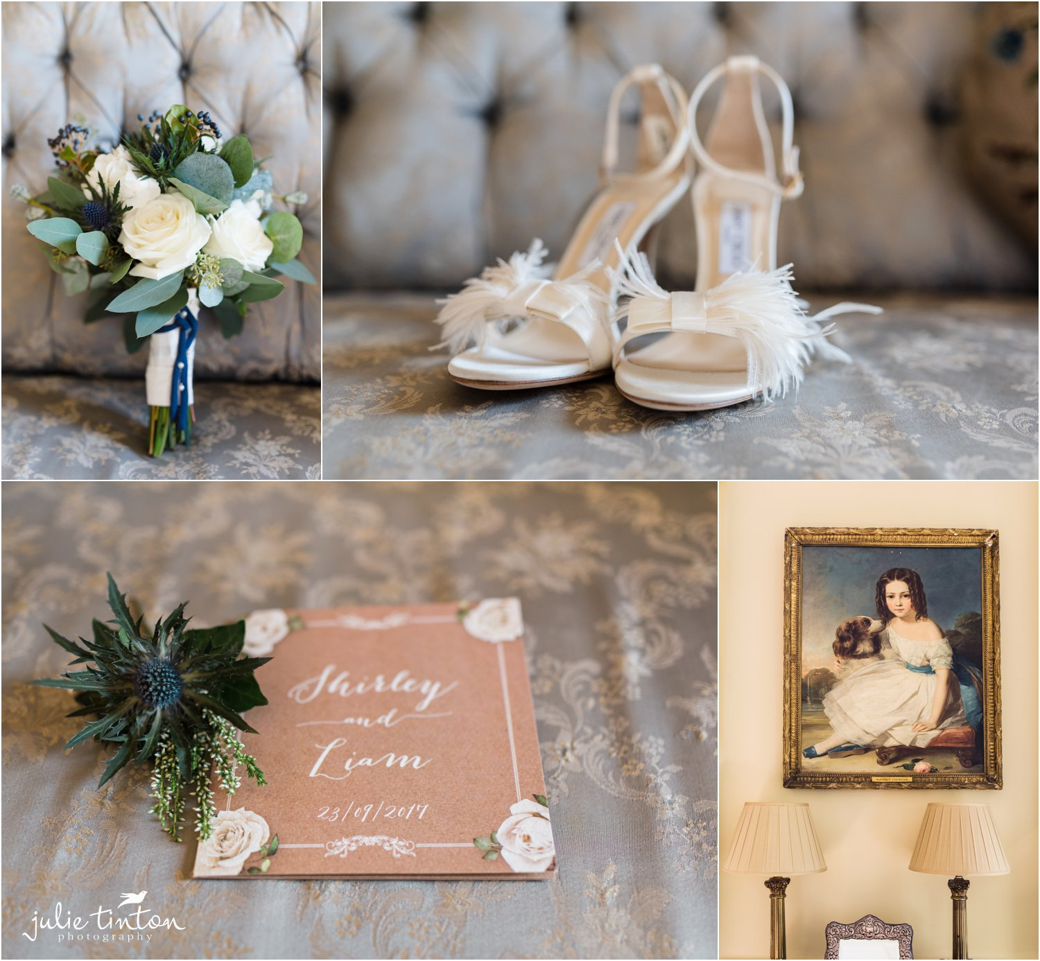 Flowers and Jimmy Choo shoes for a bride
