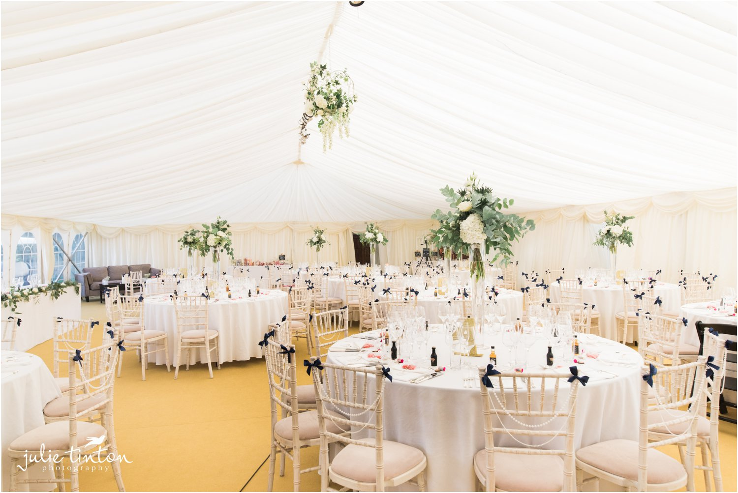Broxmouth Park Wedding Marquee tables