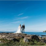 Bride & Groom at Archerfield Waterfront by the sea