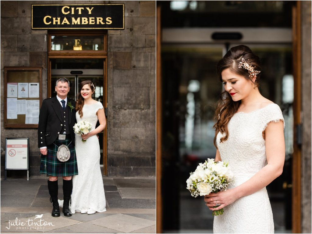Bride at City Chambers Edinburgh