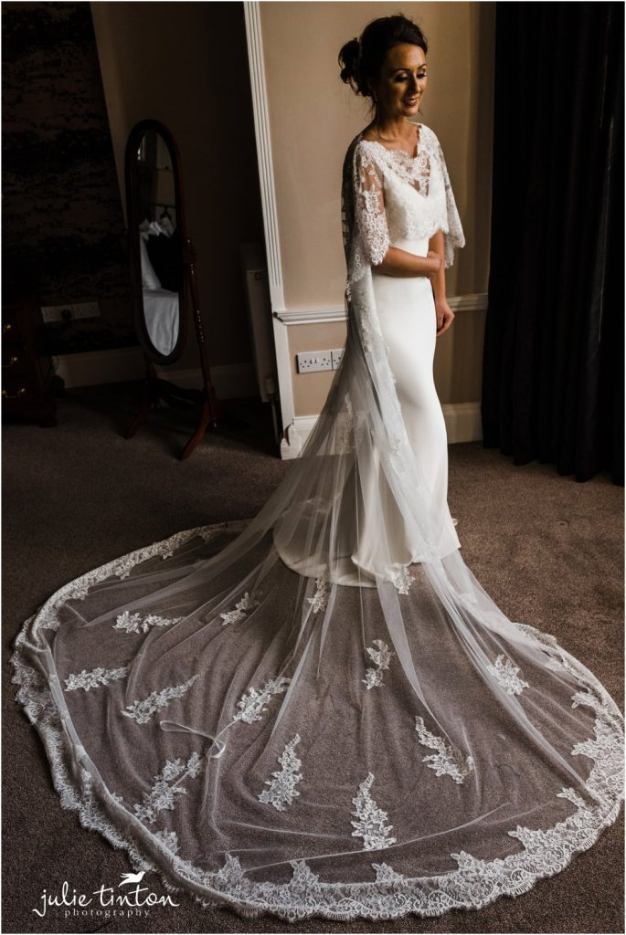 Bride with Wedding Cape