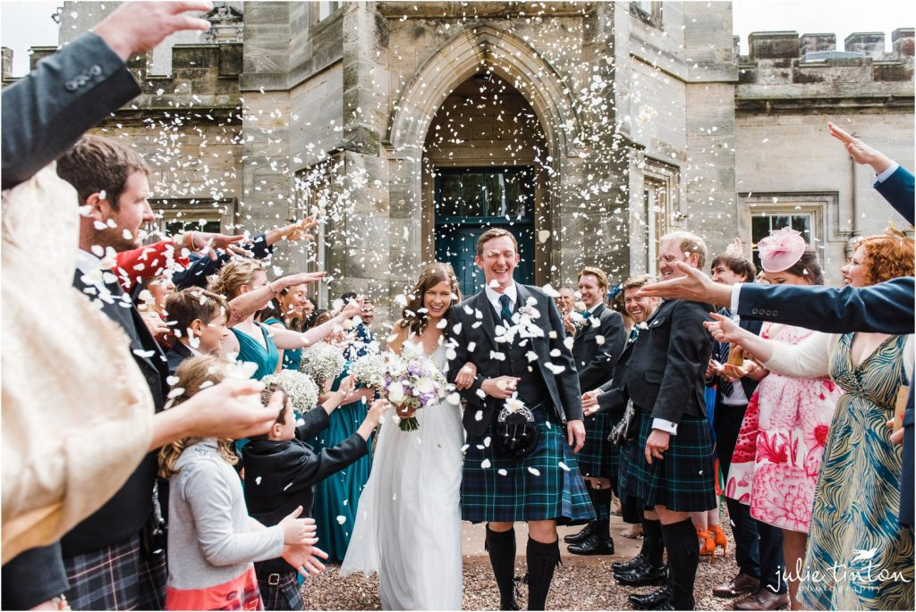 Confetti Tunnel at Winton Castle