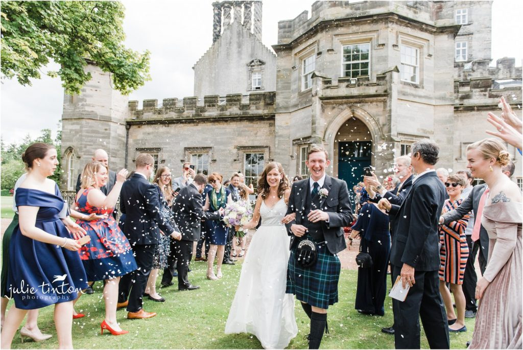 Confetti at Winton Castle