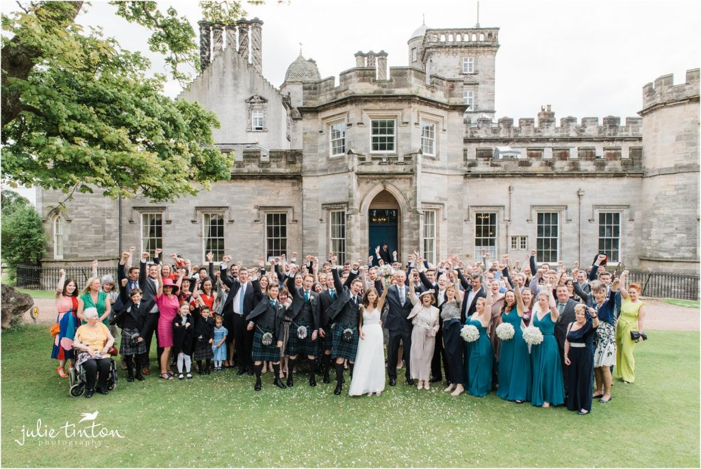 Group photograph at Winton Castle