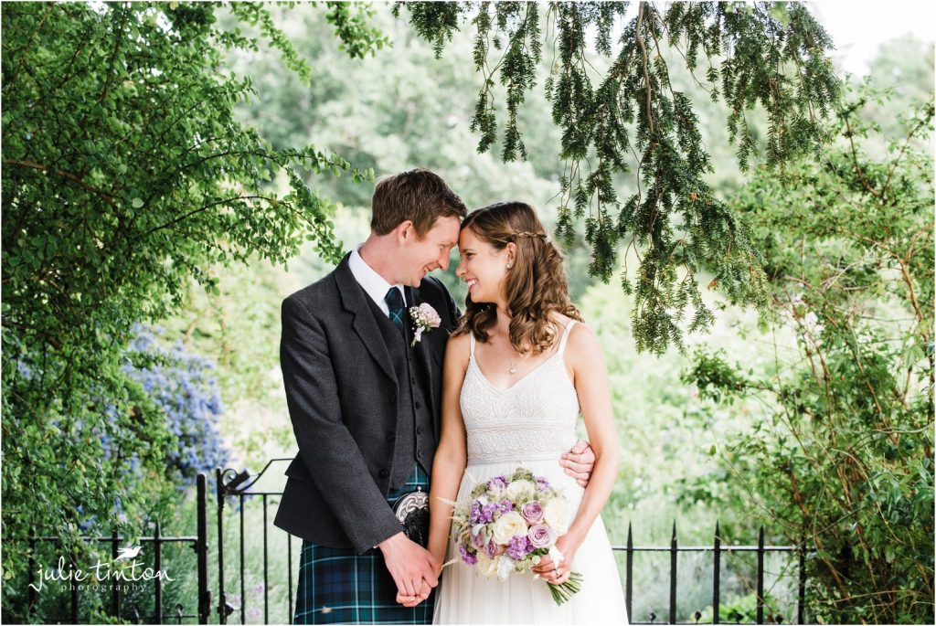 Bride and Groom at Winton Castle