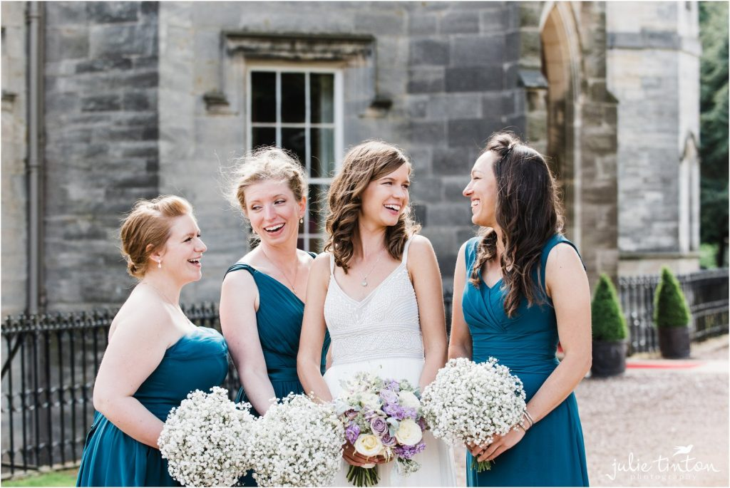 Bridesmaids at Winton Castle