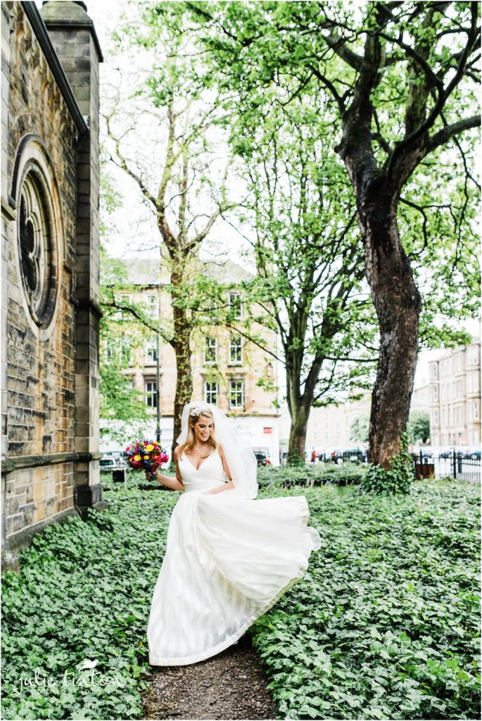 Bride at Mansfield Traquair