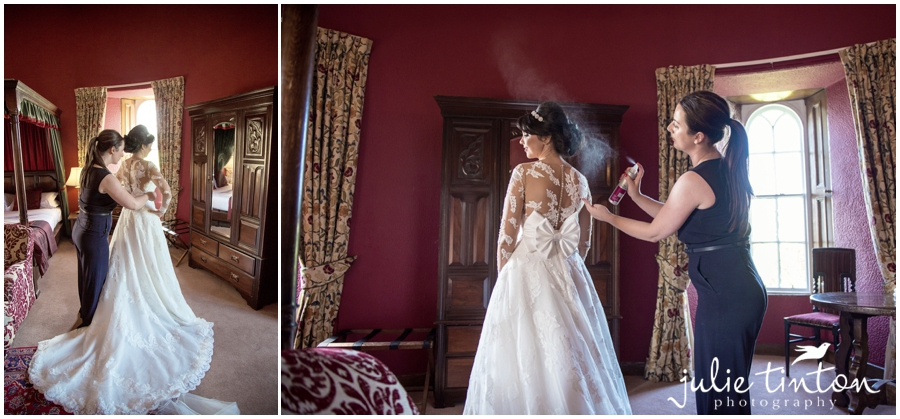 Bridal Preparation at Dalhouse Castle