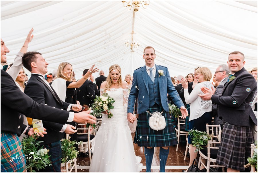Prestonfield House Wedding Ceremony Confetti