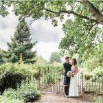Bride & Groom at Winton Castle on Wedding Day